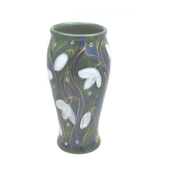 Snowdrop Design 17cm Vase Anita Harris Art Pottery