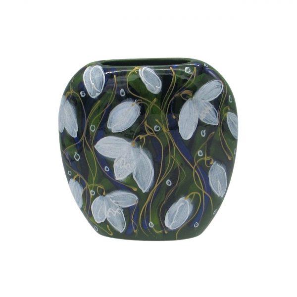 Snowdrop Design Purse Vase Anita Harris Art Pottery