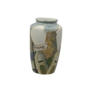 Burslem Pottery Stoneware Vase Stoke Design