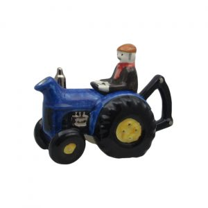 Farm Tractor One Cup Teapot Blue Carters of Suffolk