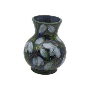 Snowdrop Design 14cm Vase Anita Harris Art Pottery