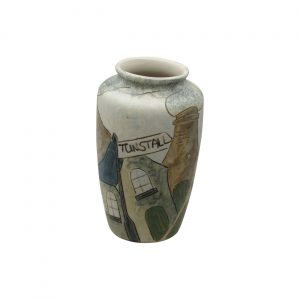 Burslem Pottery Stoneware Vase Tunstall Design