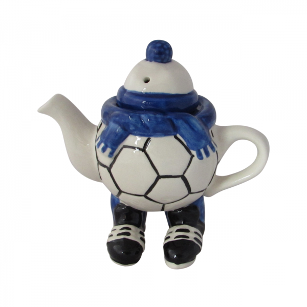 Walking Footballer Teapot Blue Colourway Carters of Suffolk