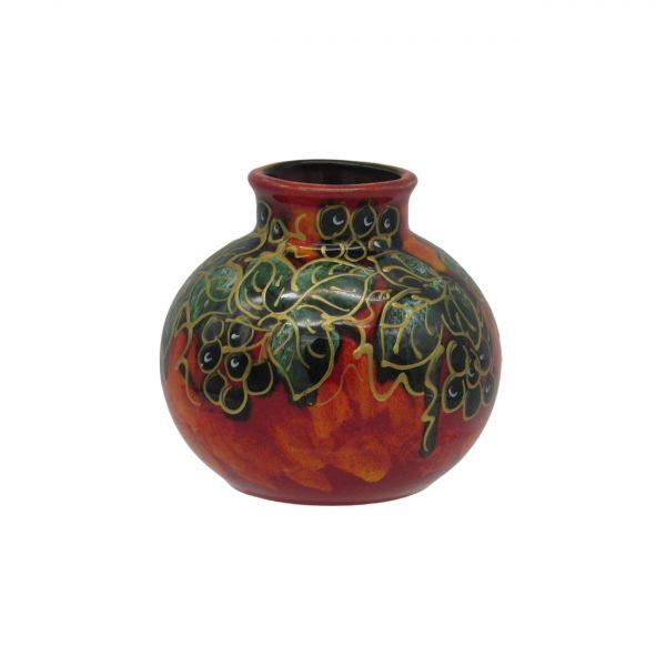 Winter Ivy Design Small Vase Anita Harris Art Pottery