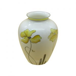 Yellow Poppy 18cm Vase by Emma Bailey Ceramics