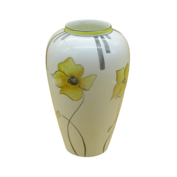 Yellow Poppy 21cm Vase by Emma Bailey Ceramics