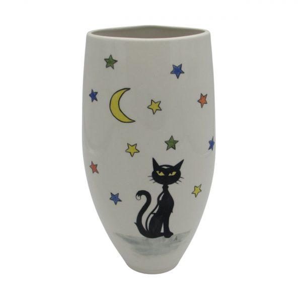 Cat Moon and Stars Design Vase Tony Cartlidge Ceramics