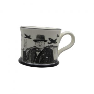 Churchill The Few Mug Moorland Pottery.