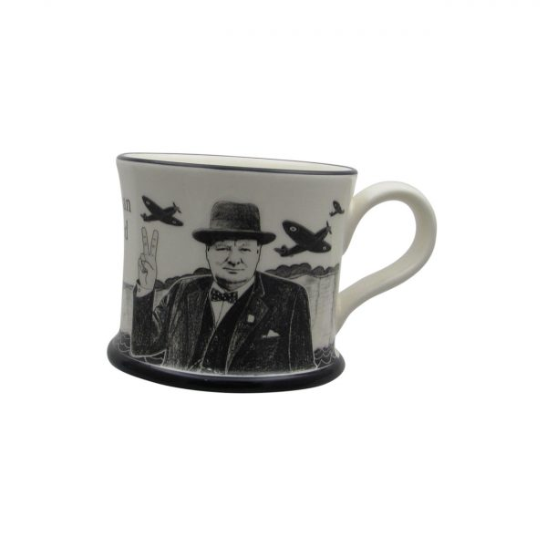 Churchill The Few Mug Moorland Pottery.