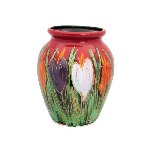 Crocus Design 13cm Vase by Anita Harris Art Pottery
