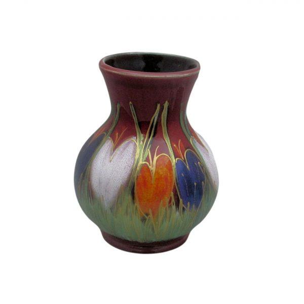 Crocus Design 14cm Vase Anita Harris Art Pottery