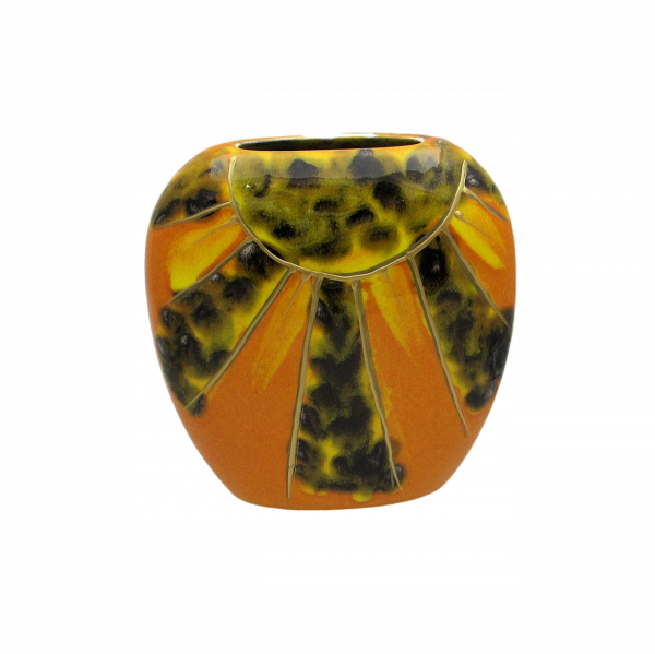 Sunfire Design Purse Vase by Anita Harris Art Pottery