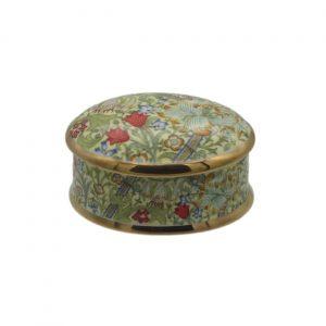 Golden Lily Design Oval Trinket Box | William Morris Design