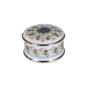Rosebud Design Round Trinket Box | William Morris